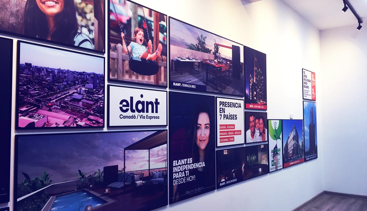 Grupo Lar Elant instalacion cuadros decorativos brandeo lima peru