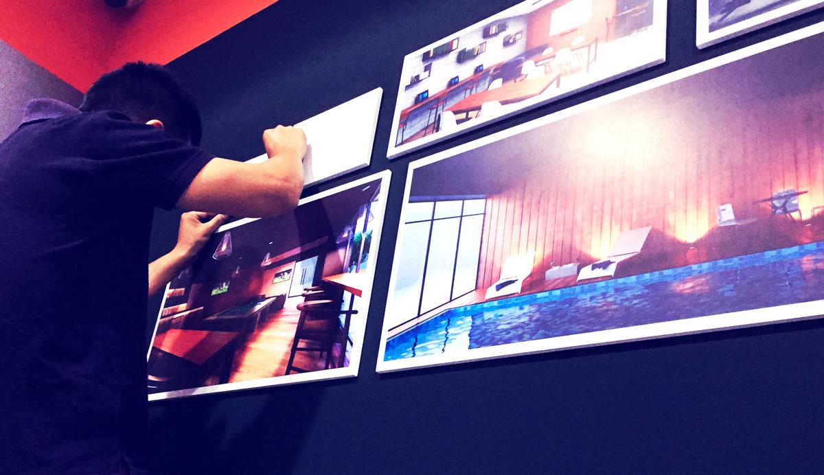 Grupo Lar Proyecto Eres Brandeo de caseta de ventas cuadros decorativos publicidad interior diseño interior lima peru
